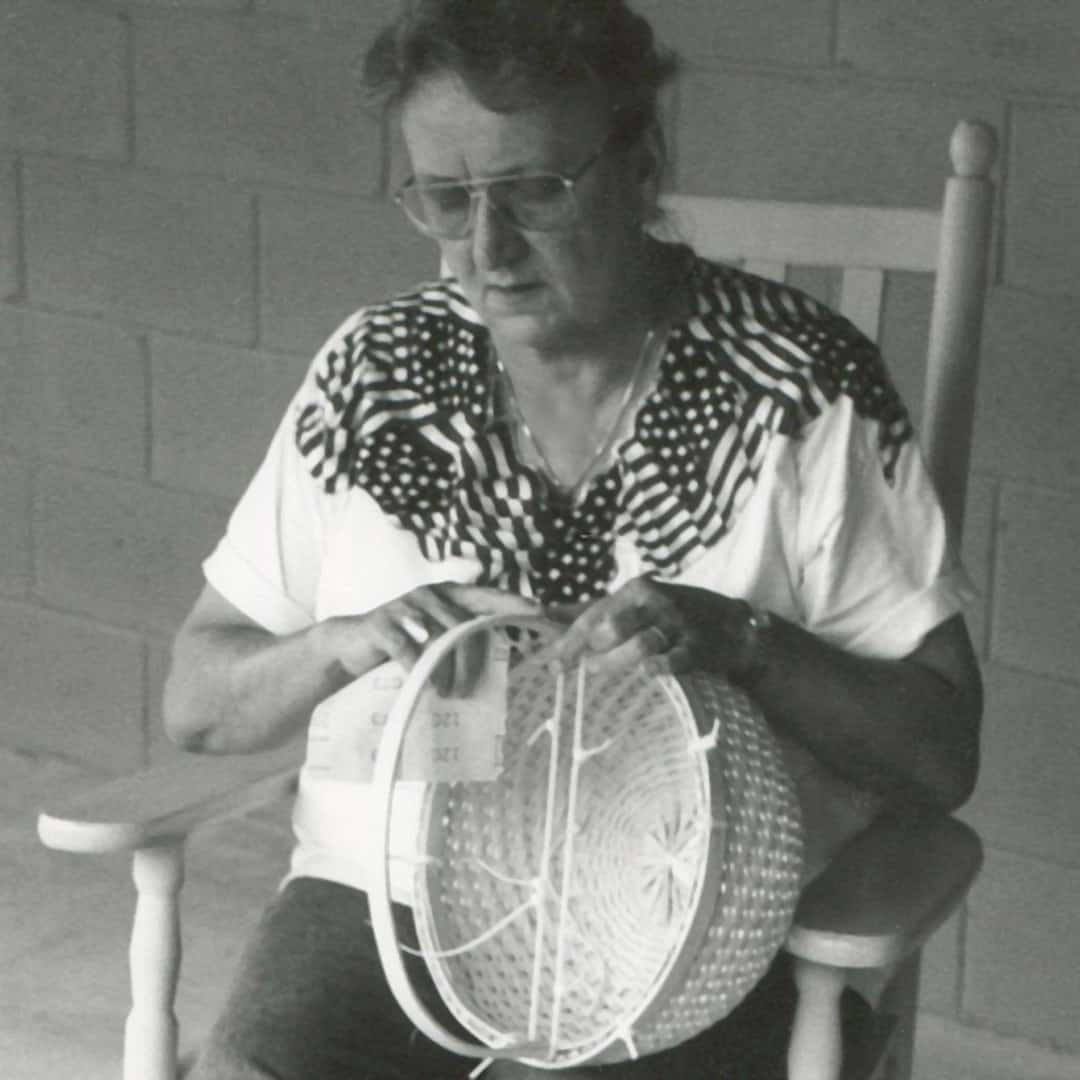 Julie Ottesen making a basket